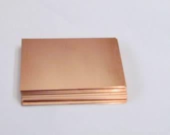 1 1/2 x 2 1/2  Copper blanks//Copper Rectangles//Hand stamping Blanks//Jewelry blanks//Metal Blanks// Id Blanks//Bracelet blanks//