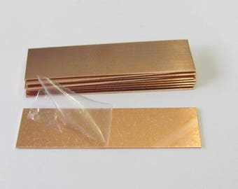 5/8 x 2 1/2 - Copper blanks// 22G -Hand stamping Blanks//Placement setting tags//Jewelry blanks//Metal Blanks/ Id Blanks