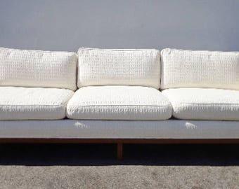 Sofa Couch Edward Wormley Danish Mid Century Modern Couch Loveseat Teak  Wood Sleeper MCM Seating Cushion