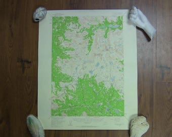 Vintage 1960 Topographical Map - Montana Natl. Forests