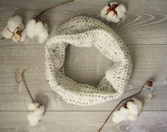 Ivory Tweed Cozy Cowl