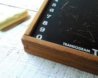 Vintage chalk Board -Transogram 'Tak A Peg' childs portable wood activity desk