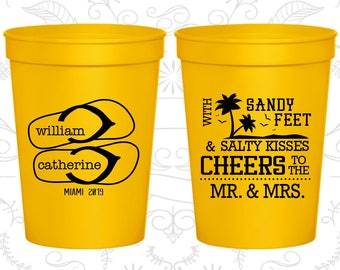 Yellow Stadium Cups, Yellow Cups, Yellow Party Cups, Yellow Wedding Cups (90)