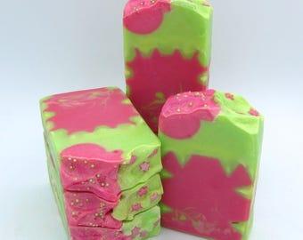 Hot Pink Lime goat milk artisan soap