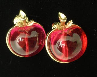 Apple Earrings Vintage Sarah Coventry