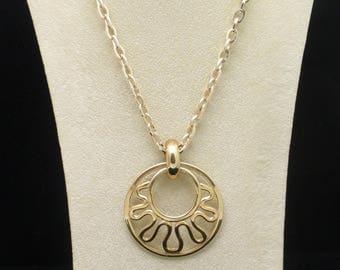 Medallion Pendant Necklace Vintage Sarah Coventry