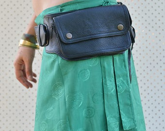 Ace High Quality Leather Utility Belt, Festival Belt, Pocket Belt, Bum Bag, Hip Bag, Festival Fanny Pack