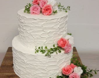 Ready to ship.  Rustic wedding cake.  Very rustic finish.