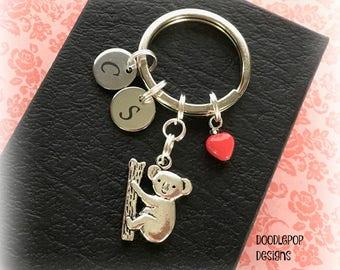 Valentine Koala keyring - Personalised Valentine's gift - Koala gift - Valentine gift for her - Koala Bear gift - Girlfriend gift - Etsy UK
