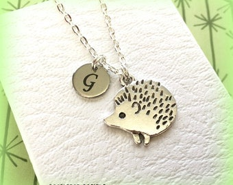 Hedgehog necklace - Hedgehog jewellery - Personalised charm necklace - Hedgehog gift - Animal jewellery - Hedgehog charm - Stocking filler