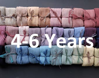 4-6 YEARS Hand Dyed baby tights years in a range of beautuiful colours!