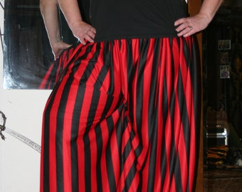Black and Red Striped Pantaloons