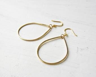 Drop - earrings - geometric earrings - round discreet earrings - earrings - earrings - minimalist - E36 earrings gold plated