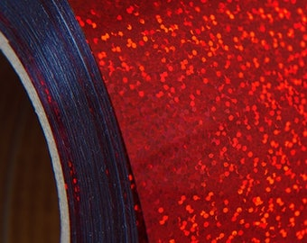"""Holographic Red 20"""" Heat Transfer Vinyl Film By The Yard"""