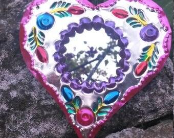 Heart flower Mirror