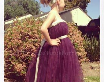 10% OFF HALLOWEEN SALE Plum Passion, plum dress, plum wedding, plum tutu dress, plum tutu, plum flower girl dress, flower girl dress, childr