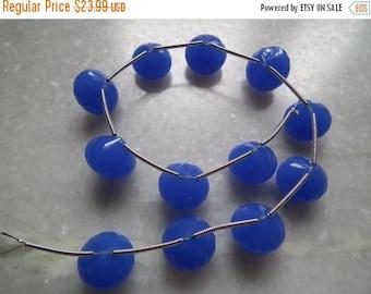 40%DIS 13mm-3 Matched Pairs Briolettes-Cobalt Blue Quartz Super Finest Quality-Cobalt Quartz Faceted Onion Shape Briolette Beads