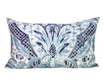 Cap Ferrat lumbar pillow cover in Pacific