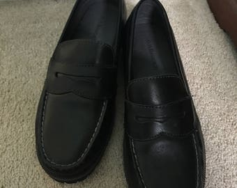 """GH Bass & co mens loafer slip on shoes sz 10.5"""" W bass fitzgerald manmade upper leather Excellent"""