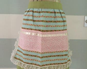 Ribbons and Lace - Tri-pocket Apron