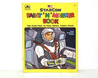 Vintage STARCOM coloring book 1988