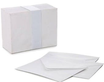 Mini Envelopes Small White 85mm x 110mm Wedding RSVP Cards