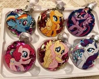 Handmade Pony Themed Christmas Ornaments! Your choice of Pony
