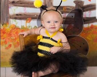 Bumble Bee Costume, Bee Tutu Costume, Bumble Bee Tutu, Bug Costume, Halloween Costume, Halloween Tutu, Baby Costume, Girls tutu costume