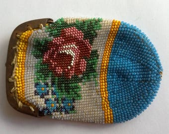 Antique Miniature Beaded Coin Purse