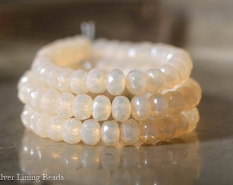 Glowing Pearl Bits: 3x5mm Czech Rondelle, Full Strand, 30 Beads, Czech Glass Bead, Faceted Rondelle, Czech Picasso Beads