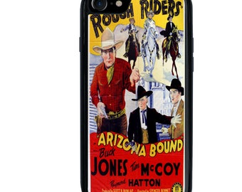 iPhone 5 5s 6 6s 6+ 6s+ SE 7 7+ Phone Case, The Rough Riders Arizona Bound, Movie Poster Design, Wild West, Cowboy, Western, Horses, Plus