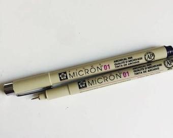 Pigma Micron Pen 01 0.25mm/Zentangle/Scrapbook/Black/Wedding Guest Book Signing