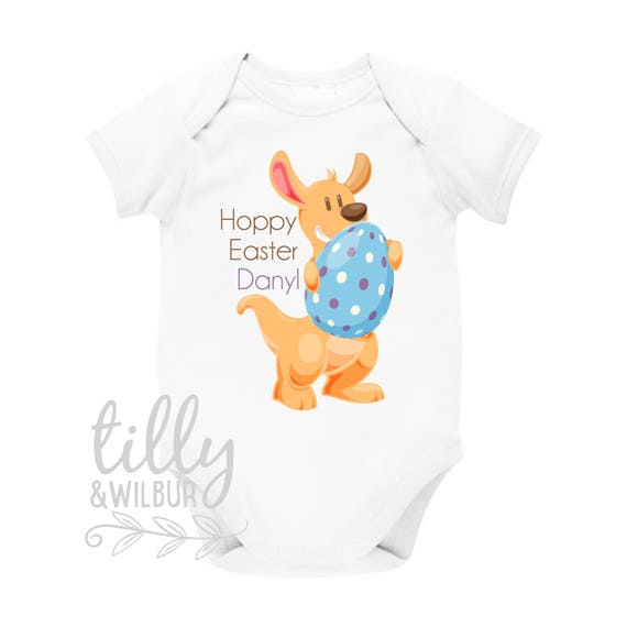 Personalised easter baby bodysuit australian easter newborn like this item negle Choice Image