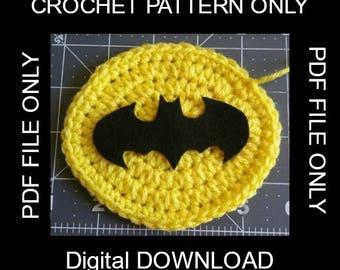 Yellow Batman Badge Pattern-- PDF FILE ONLY