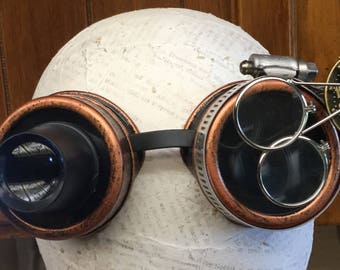 Copper Steampunk Welding Lighted Goggles