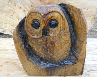 Small chainsaw carved owl