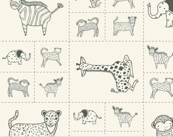 Savannah - Critters Galore Panel Black by Gingiber for Moda, 48221 21