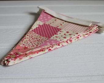 Handmade Pink Patchwork Ditsy Floral Bunting