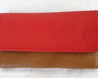 Wallets / camel/red/brown leather wallet