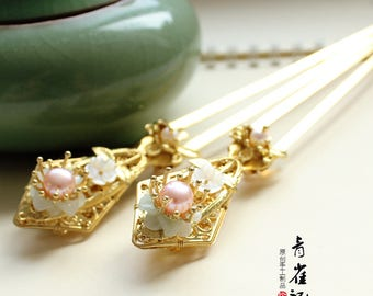 Chinese style metal hair stick,gift for women,gift for her,wedding accessories,hair pin,hair clip