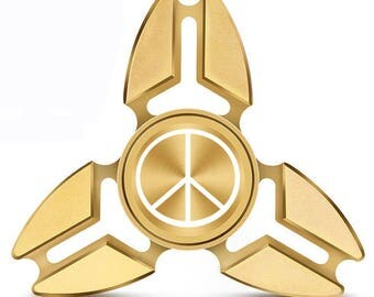 Fidget Spinner Tri-Spinner Aluminum Metal Peace Sign