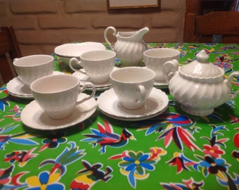 Vintage 18 piece set of Johnson Brothers ironstone Regency dishes- Made in England