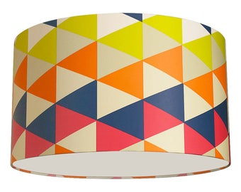 """Colourful 14"""" 'Kaleidoscope' Lampshade"""