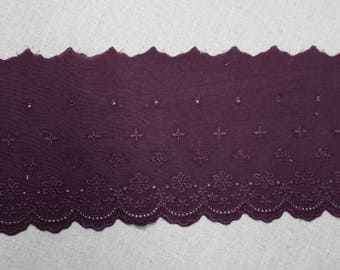 Burgundy YH1162 11.5cm 1Yds Broderie Anglaise Eyelet cotton lace trim 4.5/""