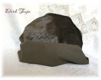 Italian VISCOSE Fabric Fur Dark Taupe Colour 6-7 mm pile 1/8 metre or more teddy bear making supplies plush