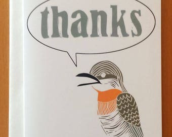 Thanks Bird Greeting Card