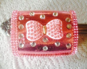 Pink Bling Sparkly contact lens case