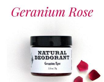 Geranium Rose Natural Deodorant