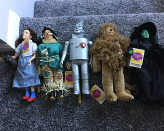 Five excellent condition  Wizard of Oz collectible dolls by Presents