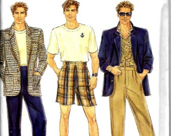 Simplicity 8307   MEN'S Pants or Shorts and Lined Jacket   Size 38-44      Uncut